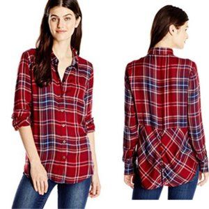 LUCKY BRAND | Red Bungalow Flannel Shirt Large